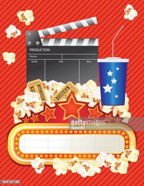 theatre elements and marquee - film premiere stock illustrations