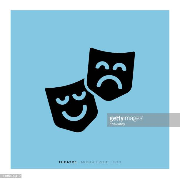 theatre icon - actor stock illustrations, clip art, cartoons, & icons