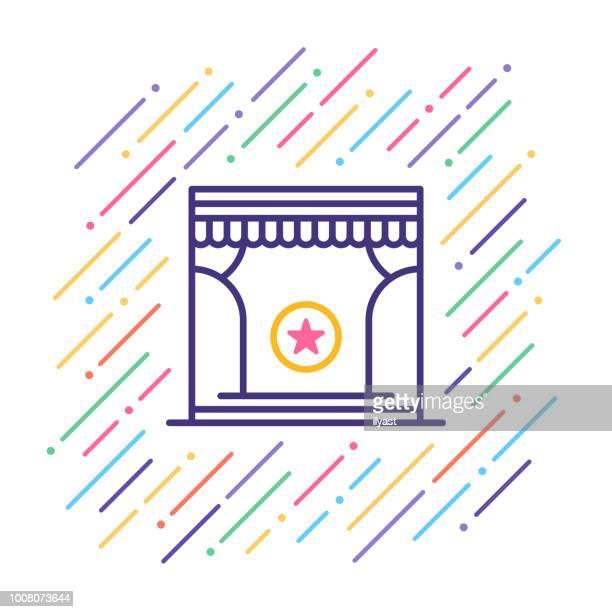 Theatre Line Icon