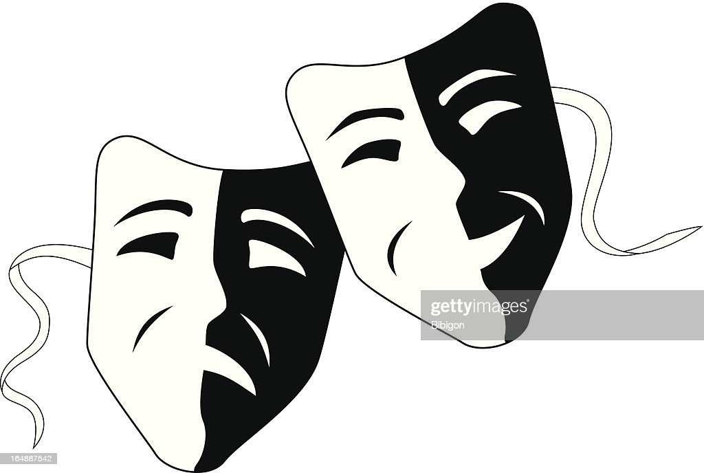 Theatre masks tragedy comedy