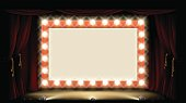 Theatre or Cinema with style light bulb sign