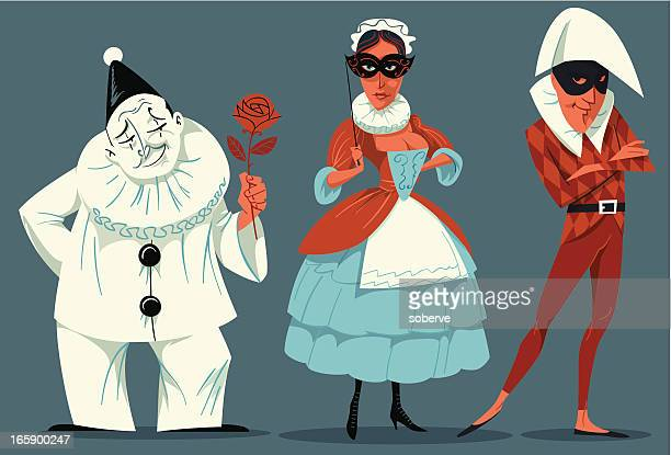 theatre performers. - fool stock illustrations, clip art, cartoons, & icons