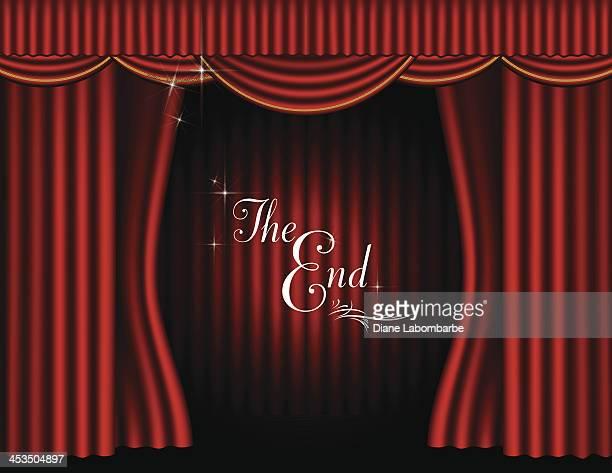 Theater Bühne und Vorhänge