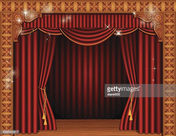 Theatre Stage With Curtains