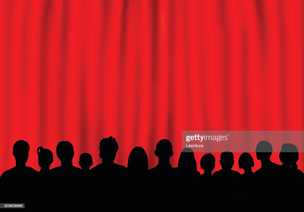 Theatre (People are Complete- a Clipping Path Hides the Legs) : stock illustration