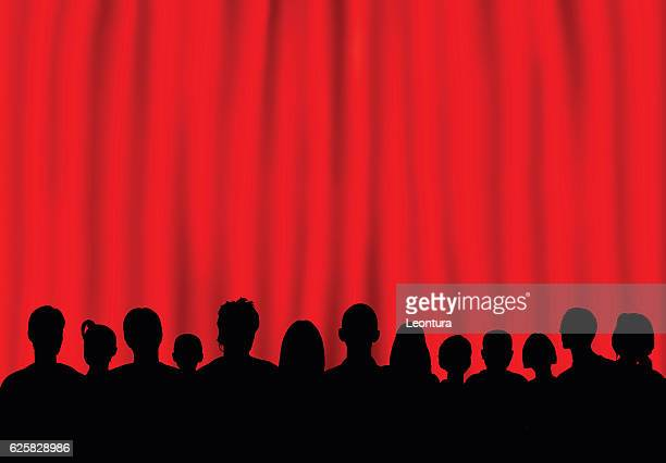 Theatre (People are Complete- a Clipping Path Hides the Legs)