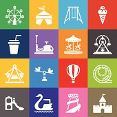 Theme Park Icons and Color Background