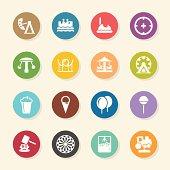 Theme Park Icons - Color Circle Series