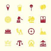 Theme Park Icons - Color Series | EPS10