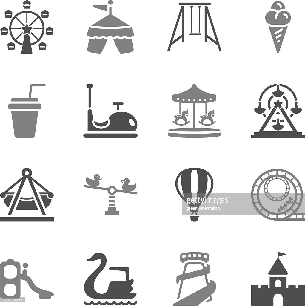 Theme Park Icons Gray Icons
