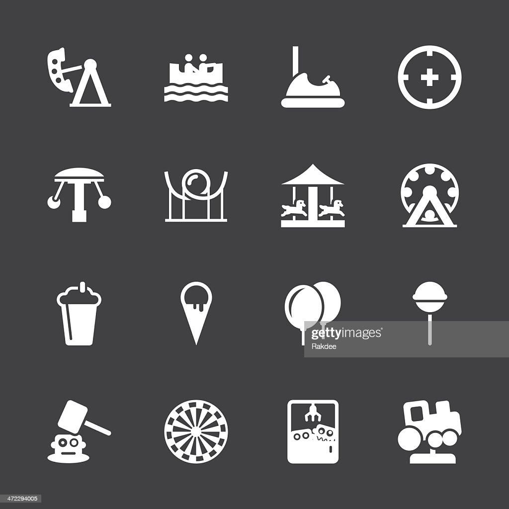 Theme Park Icons - White Series | EPS10