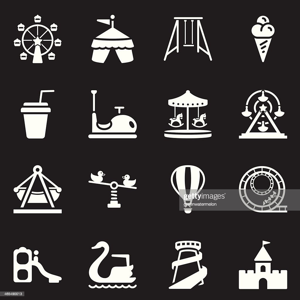 Theme Park Icons   White Series