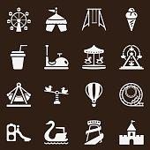 Theme Park Icons-Brown Series