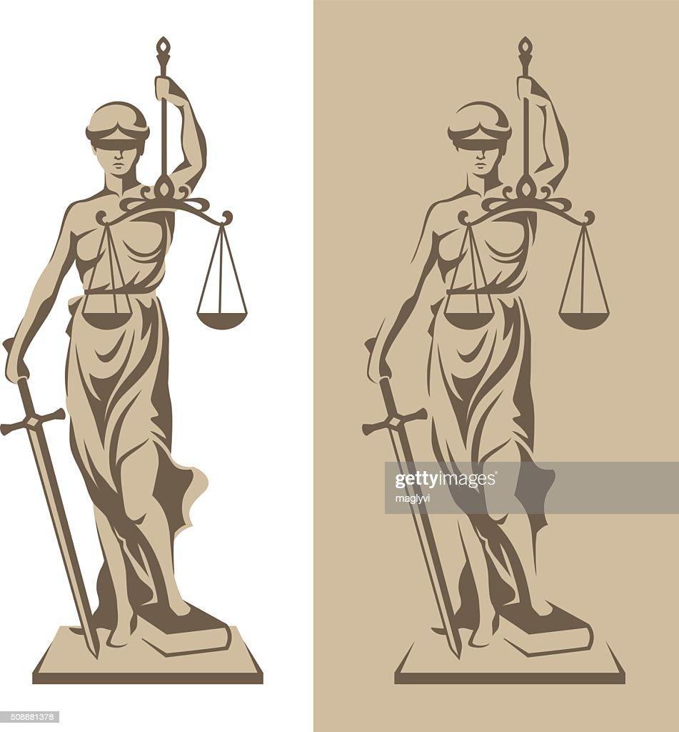 Themis statue illustration