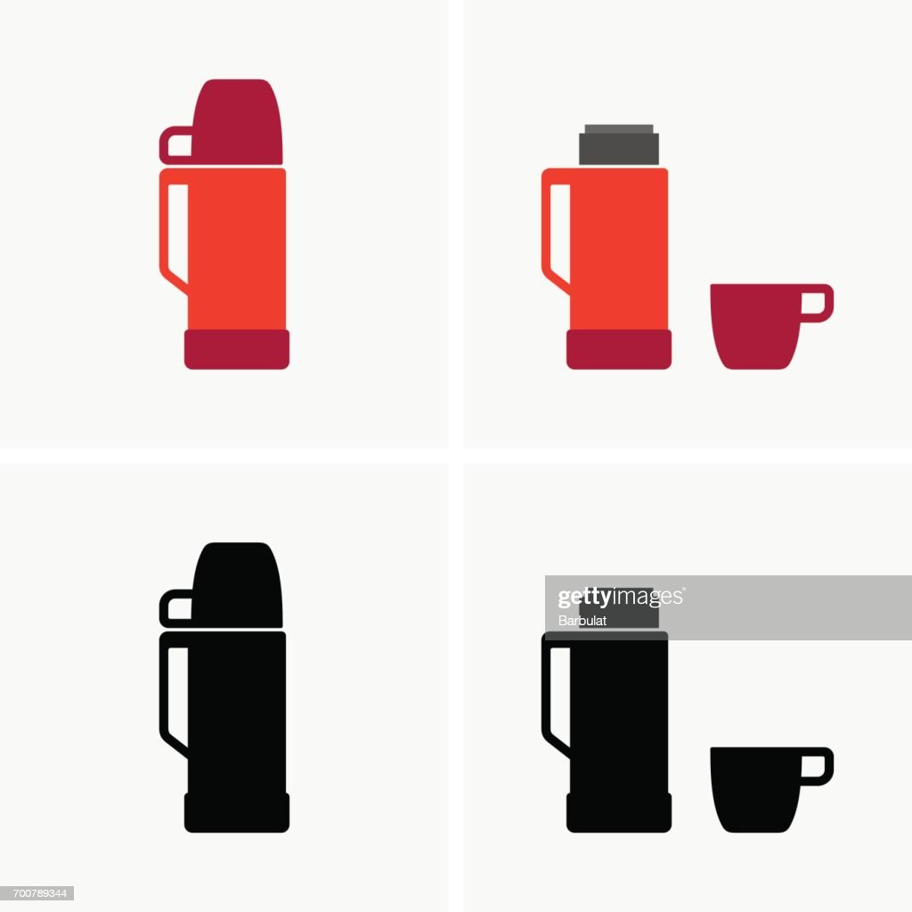 Thermo bottle with cup