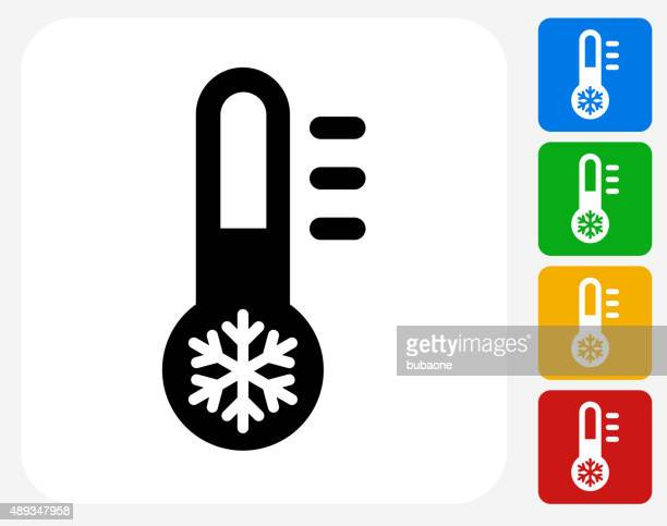 Thermometer Icon Flat Graphic Design