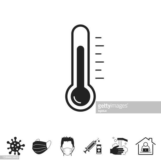 温度計。白い背景上のデザイン用のアイコン - celsius点のイラスト素材/クリップアート素材/マンガ素材/アイコン素材