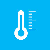 Thermometer indicators icon. vector illustration