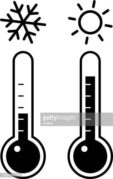 温度計セット - 水銀点のイラスト素材/クリップアート素材/マンガ素材/アイコン素材