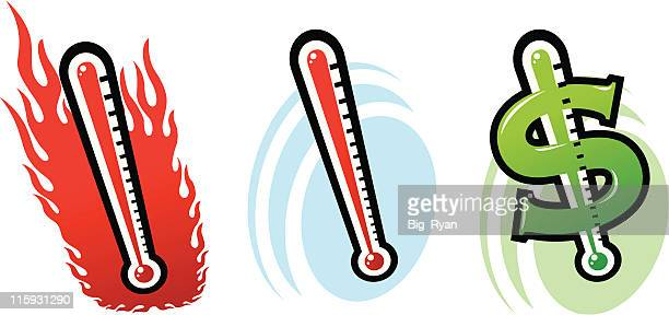 thermometer - celsius stock illustrations