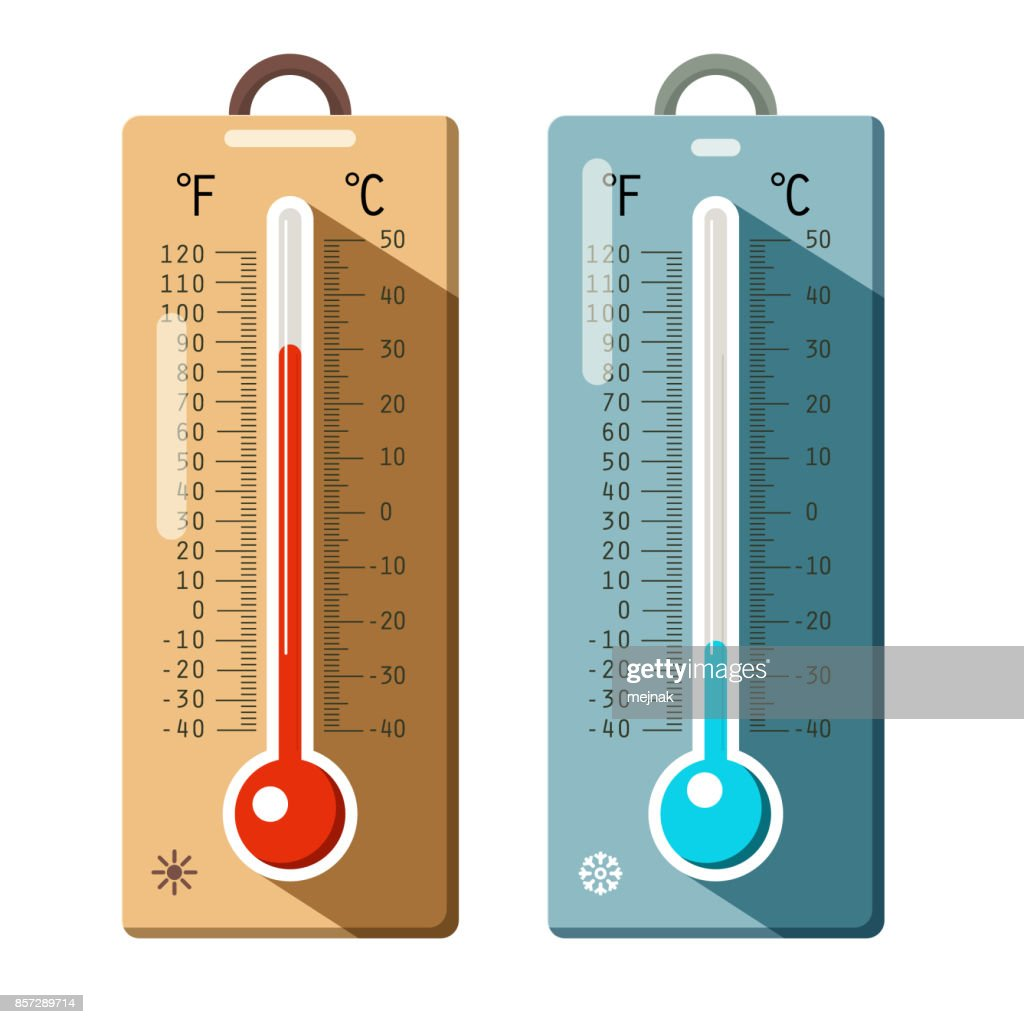 Thermometers Icons Set
