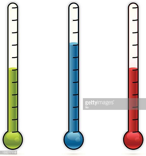 ilustraciones, imágenes clip art, dibujos animados e iconos de stock de termómetros - termometro mercurio