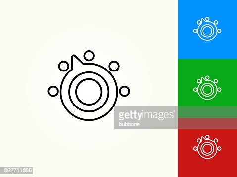 Thermostat Black Stroke Linear Icon Vector Art Getty Images