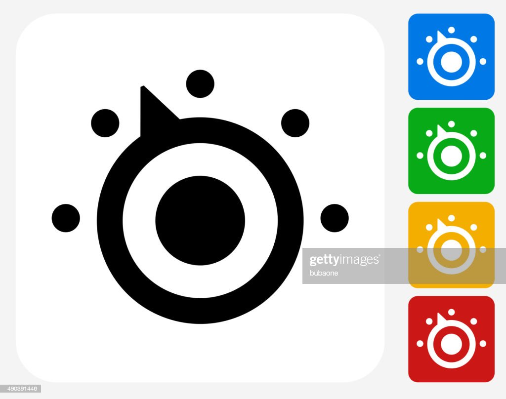 Thermostat Icon Flat Graphic Design