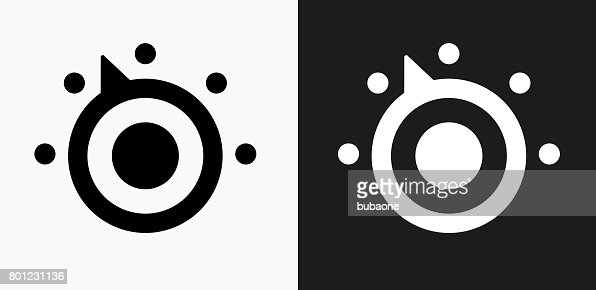 thermostat icon on black and white vector backgrounds vector art