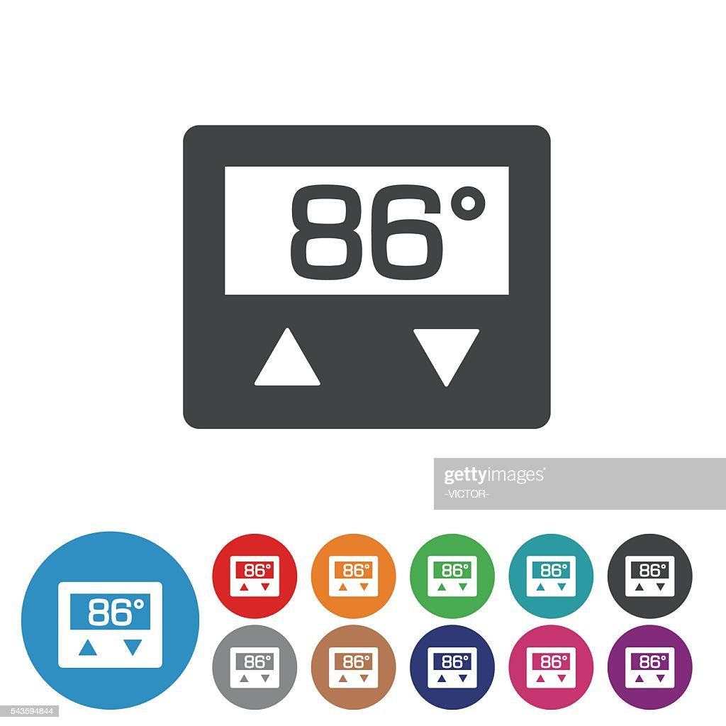 thermostat icons graphic icon series vector art getty images