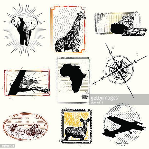 these stamps of freedom are all i ever had... - safari stock illustrations, clip art, cartoons, & icons