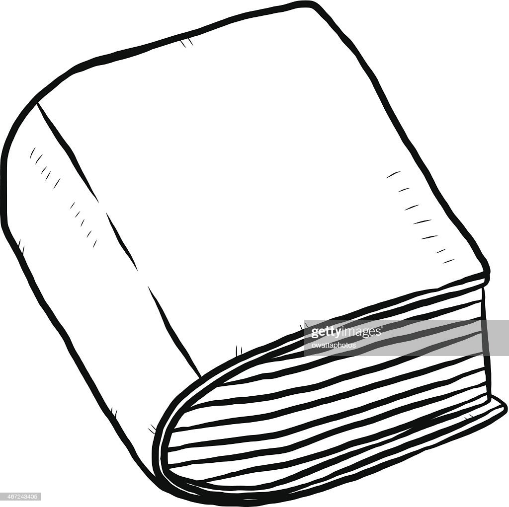 thick book cartoon hand drawn