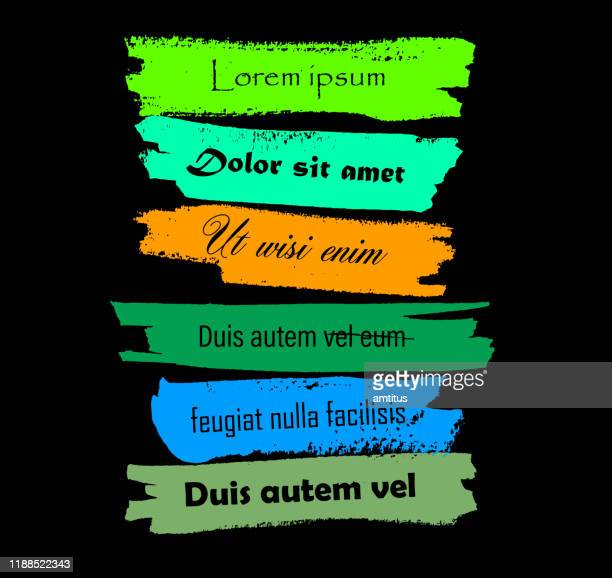 thick brush strokes copy space - patchwork stock illustrations