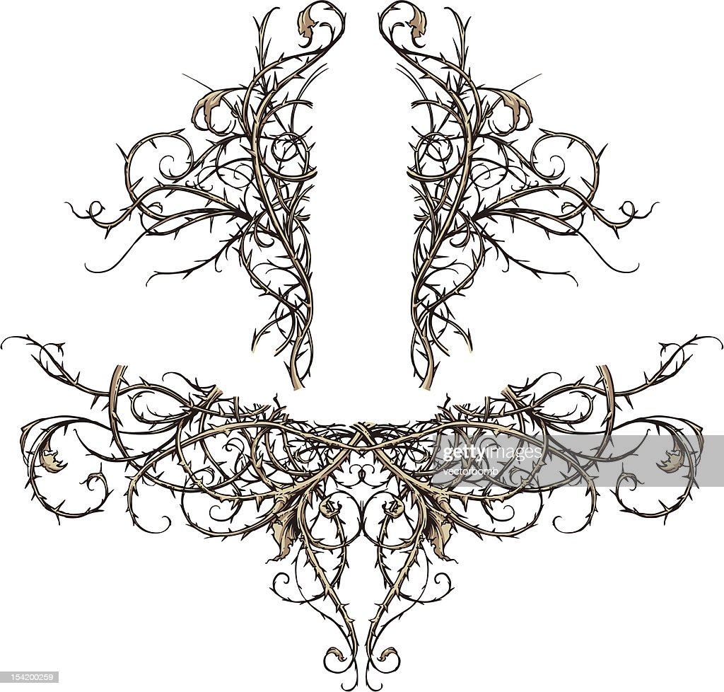 Thicket Scroll Design Accents