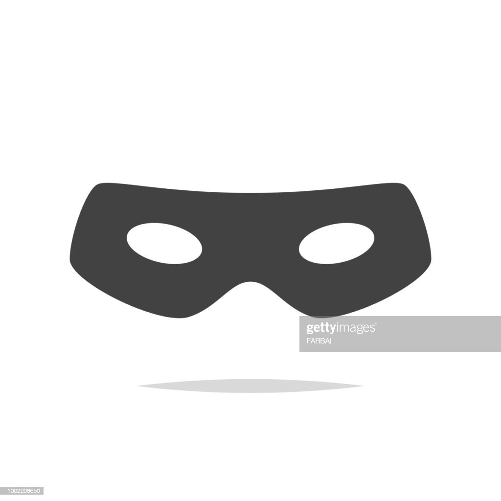 Thief eye mask icon vector isolated