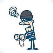 thief in handcuff