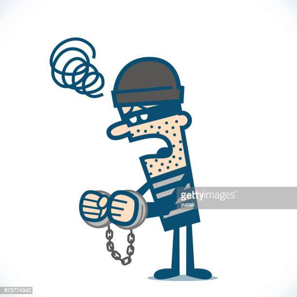 thief in handcuff