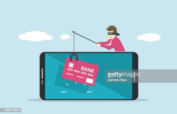thief - phishing stock illustrations
