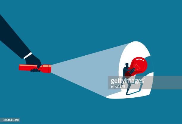 thief - flashlight beam stock illustrations, clip art, cartoons, & icons