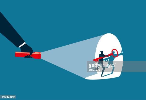 thief - flashlight stock illustrations, clip art, cartoons, & icons