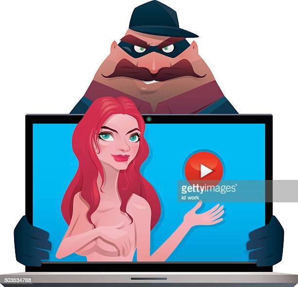 thief with naked girl - x rated stock illustrations, clip art, cartoons, & icons