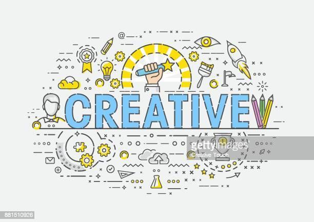 thin concept - creative - magician stock illustrations, clip art, cartoons, & icons