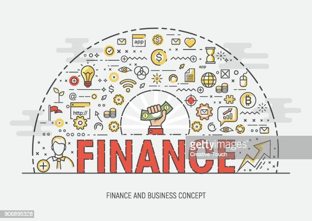 thin concept - finance - finance and economy stock illustrations, clip art, cartoons, & icons