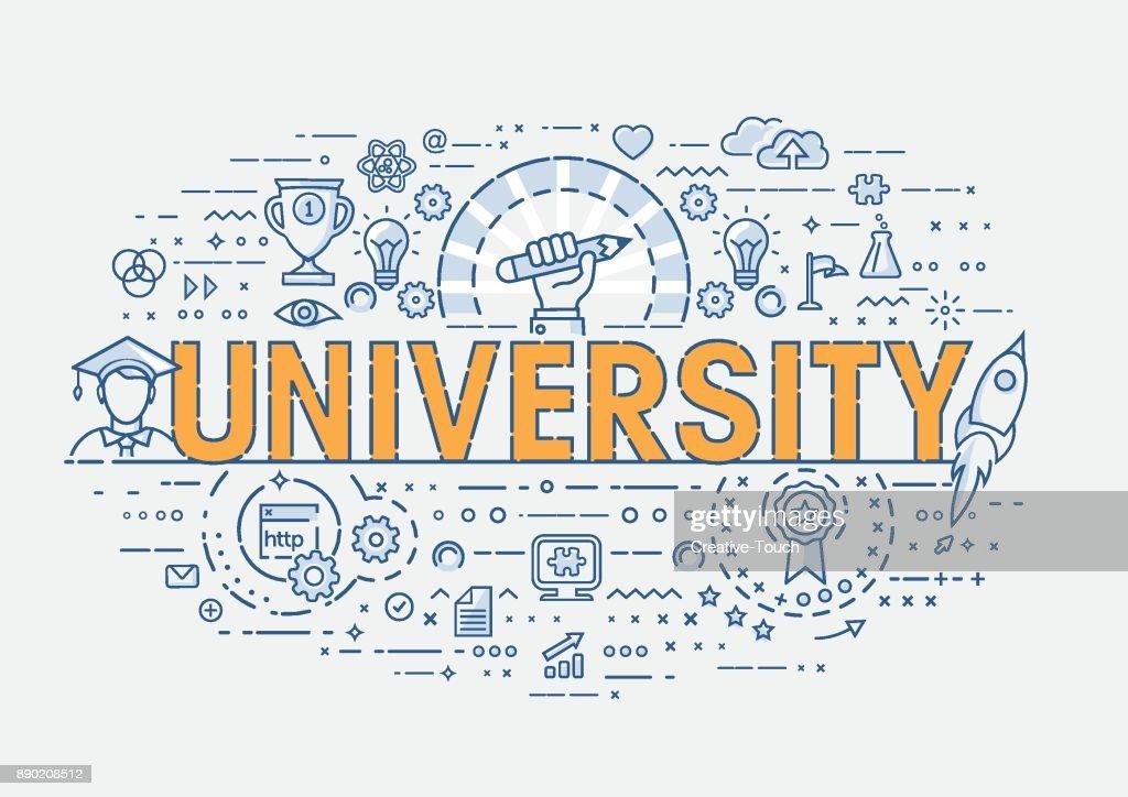 Thin Concept - University : stock illustration