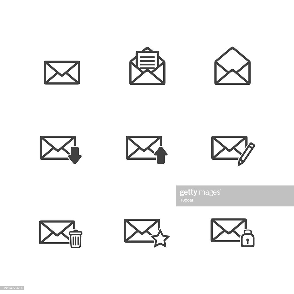 Thin Email Icons Set