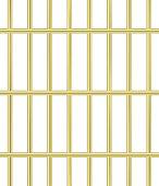 Thin golden jail bars pattern. Prison cell seamless vector.