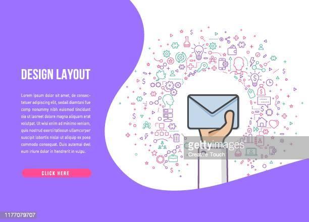 シンハンズコンセプト - メッセージ - 迷惑メール点のイラスト素材/クリップアート素材/マンガ素材/アイコン素材