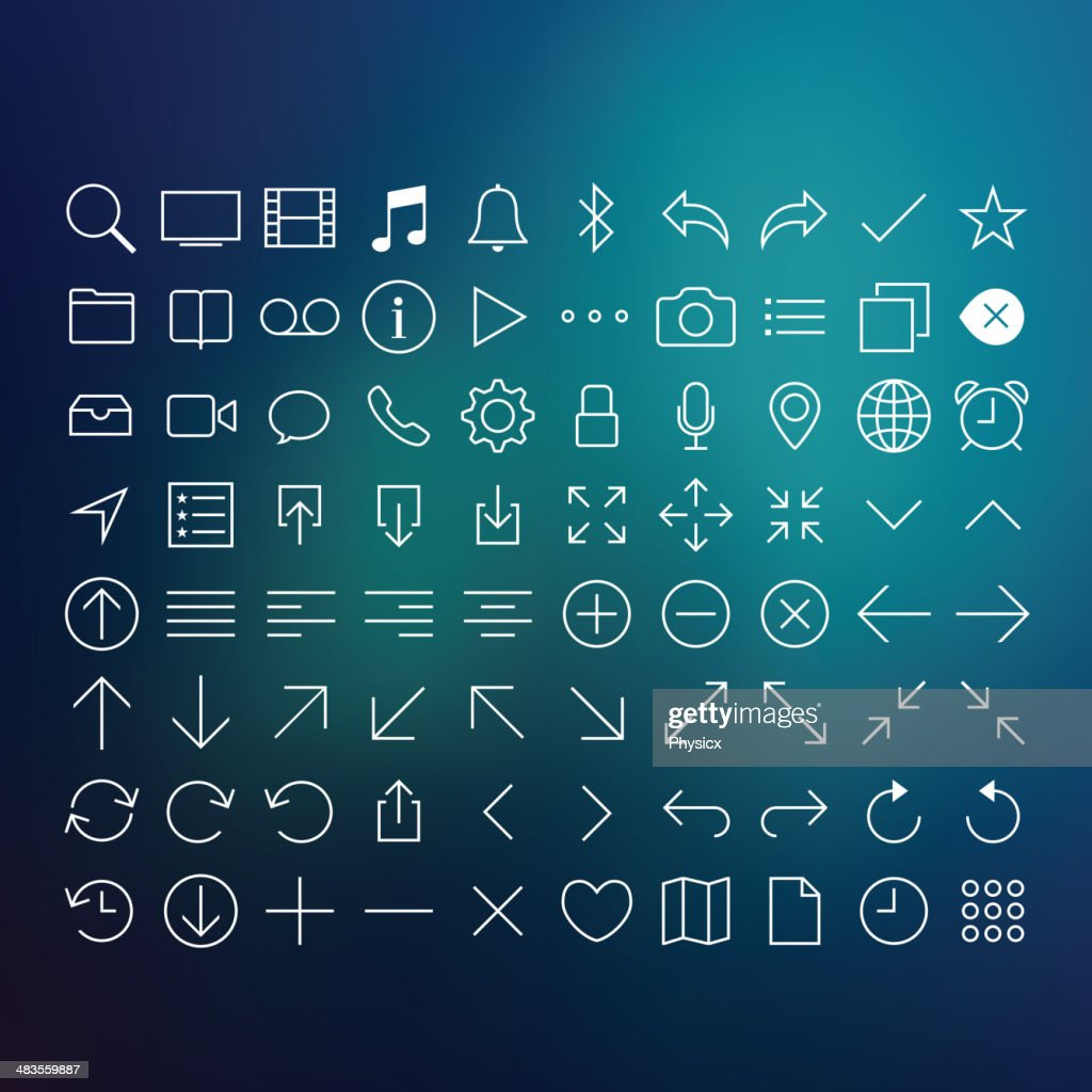 80 Thin Icons Set