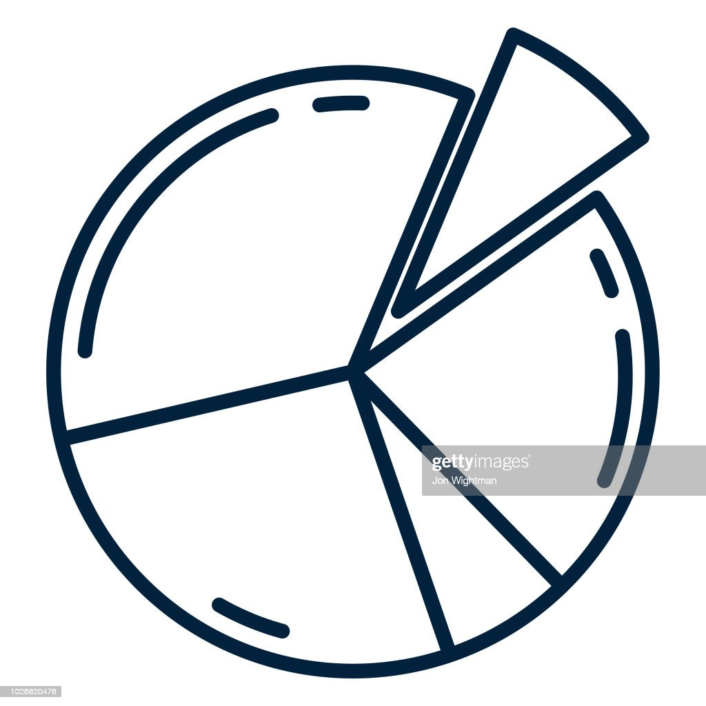 Thin Line Business Icon Pie Chart Vector Art Getty Images
