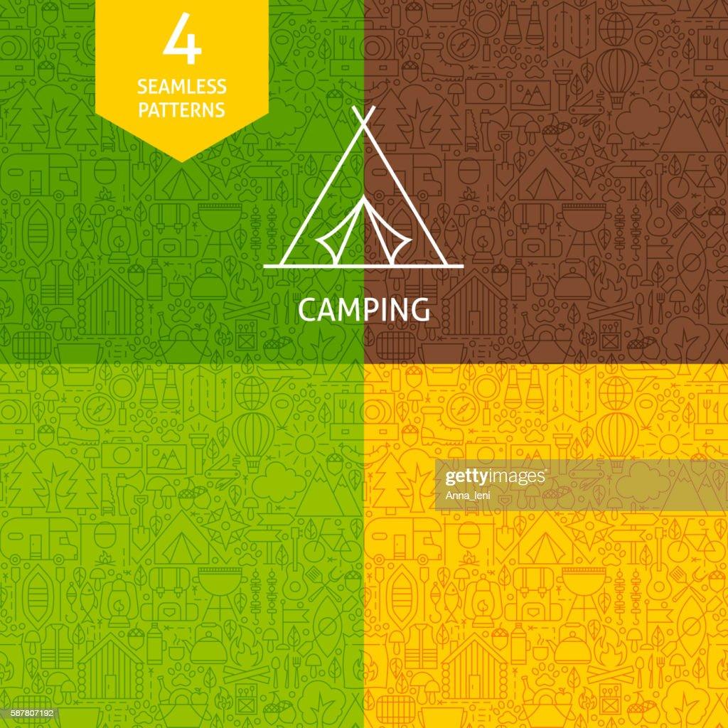 Thin Line Camping Pattern Set